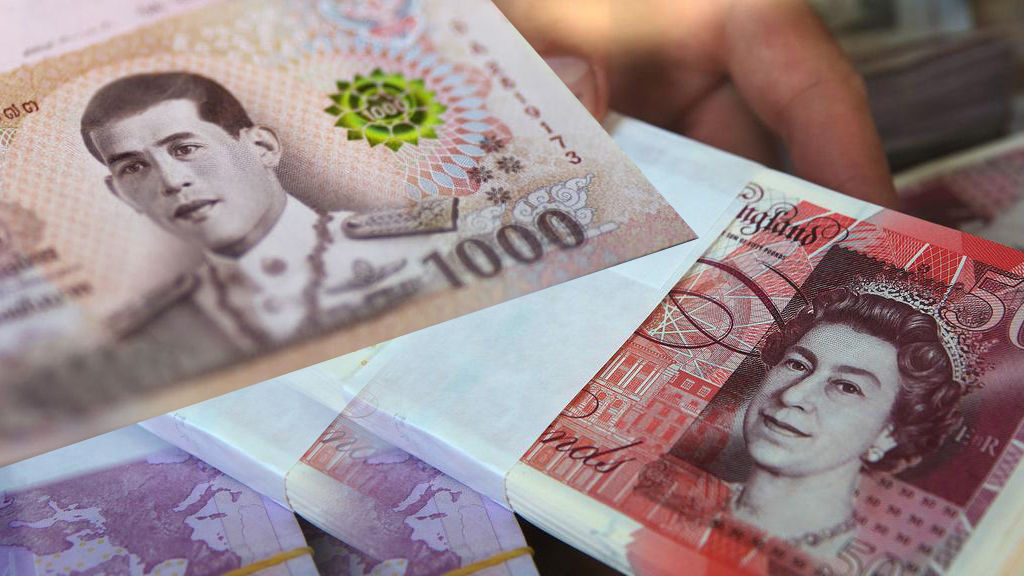 British and Australian expats and tourists ponder the Thai baht